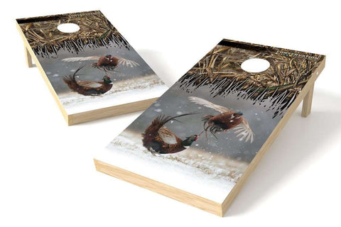 Image: Pheasant Conservation Cornhole Board Set (w/Bluetooth Speakers) | Proline Tailgating