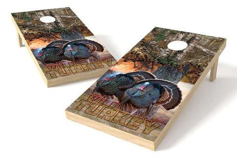 Image: Turkey Conservation Cornhole Board Set (w/Bluetooth Speakers) | Proline Tailgating