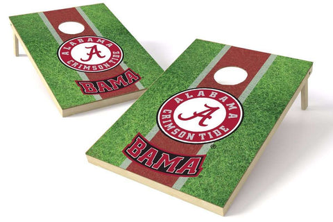 Image: Alabama Crimson Tide 2x3 Cornhole Board Set - Field | Proline Tailgating