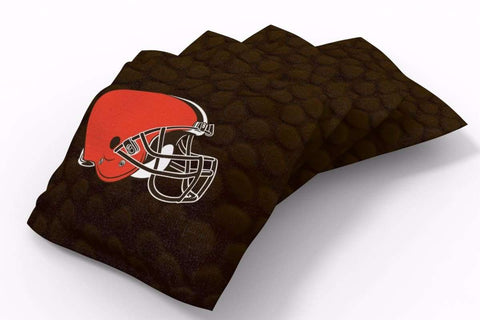 Image: Cleveland Browns Pigskin Design Bean Bags-4pk (A) | Proline Tailgating