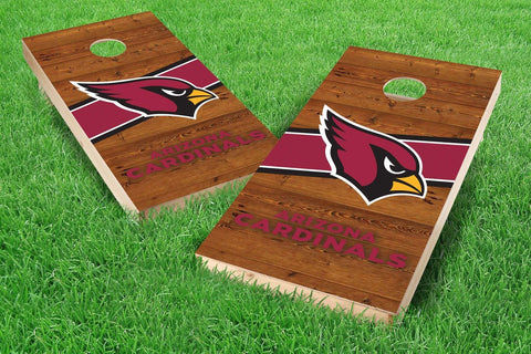 Image: Arizona Cardinals 2x4 Cornhole Board Set - Logo (w/Bluetooth Speakers) | Proline Tailgating