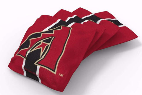 Image: Arizona Diamondbacks Stripe Bean Bags-4pk (B) | Proline Tailgating