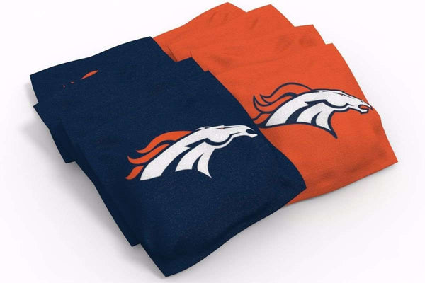 Image: Denver Broncos Cornhole Board Set - Millennial Stripe (w/Bluetooth Speakers) | Proline Tailgating
