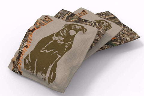 Image: Chocolate Lab Hunting Dogs Bean Bags-4pk (B) | Proline Tailgating