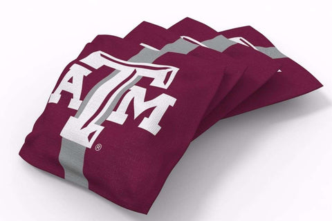 Image: Texas A&M Aggies Stripe Bean Bags-4pk (A) | Proline Tailgating