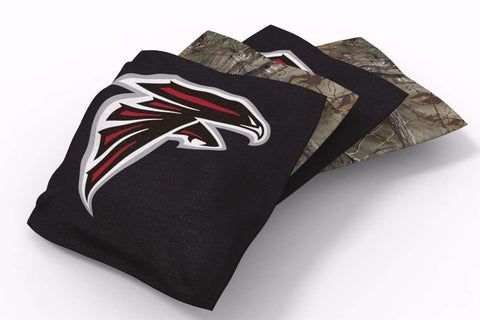 Image: Atlanta Falcons RealTree Camo Bean Bags-4pk (A) | Proline Tailgating