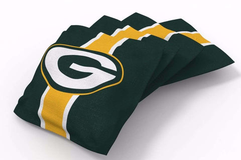 Image: Green Bay Packers Stripe Bean Bags-4pk (A) | Proline Tailgating