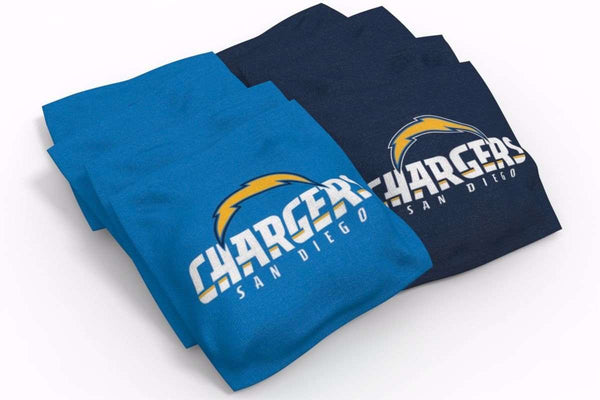 Image: Los Angeles Chargers 2x4 Cornhole Board Set - Wild | Proline Tailgating