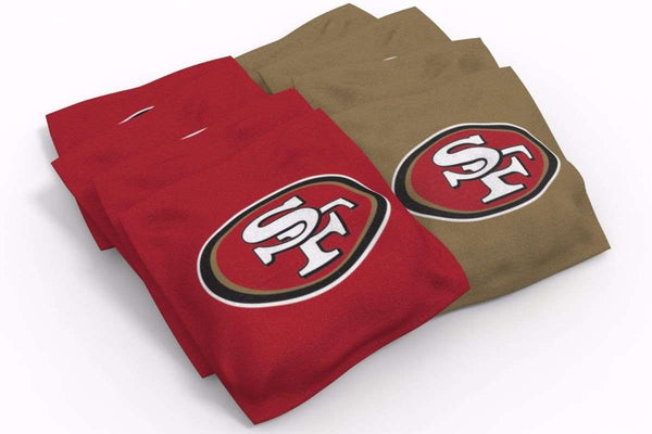 Image: San Francisco 49ers 2x4 Cornhole Board Set - Plate | Proline Tailgating