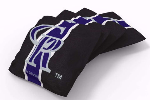 Image: Colorado Rockies Stripe Bean Bags-4pk (A) | Proline Tailgating