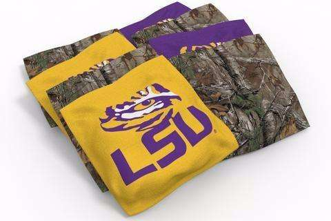 Image: LSU Tigers 2x4 Cornhole Board Set - Spiral | Proline Tailgating