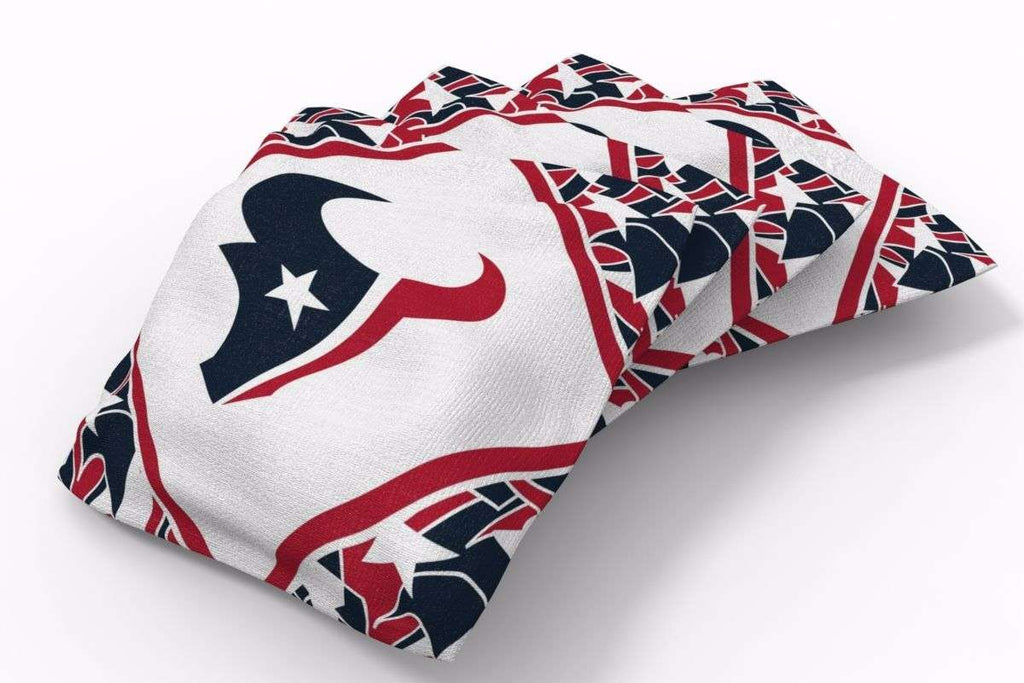 Image: Houston Texans Millennial Diamond Bean Bags-4pk (A) | Proline Tailgating