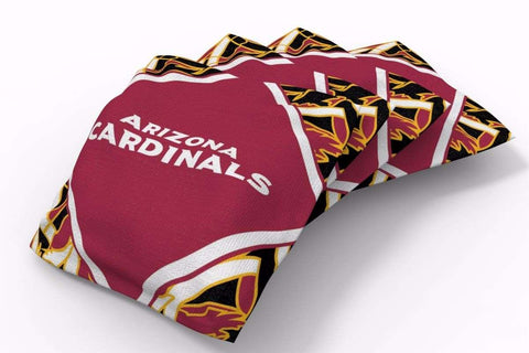 Image: Arizona Cardinals Millennial Diamond Bean Bags-4pk (B) | Proline Tailgating