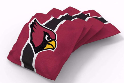 Image: Arizona Cardinals Stripe Bean Bags-4pk (B) | Proline Tailgating