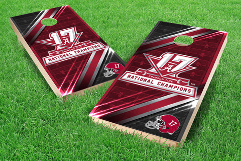 Image: Alabama Crimson Tide 2x4 Cornhole Board Set - 2017 National Champions 1 | Proline Tailgating