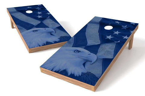 Image: USA Eagle Cornhole Board Set-Blue | Proline Tailgating