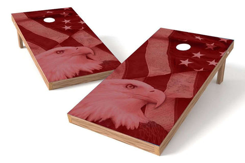 Image: USA Eagle Cornhole Board Set- Red | Proline Tailgating