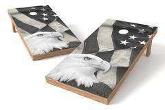 Image: USA Eagle Single Cornhole Board-White | Proline Tailgating