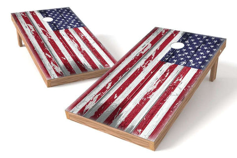 Image: USA Flag Cornhole Board Set-Ripped | Proline Tailgating