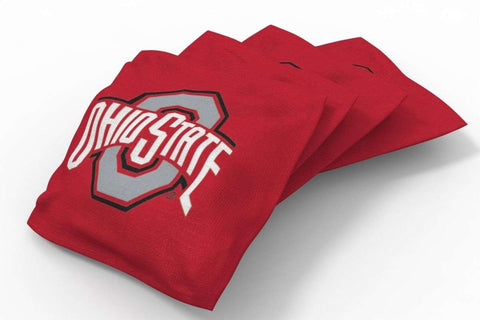 Image: Ohio State Buckeyes Solid Bean Bags-4pk (A) | Proline Tailgating