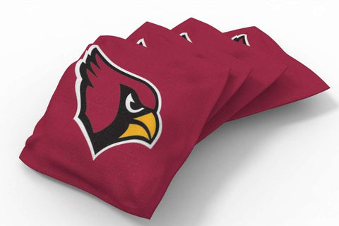 Image: Arizona Cardinals Solid Bean Bags-4pk (A) | Proline Tailgating