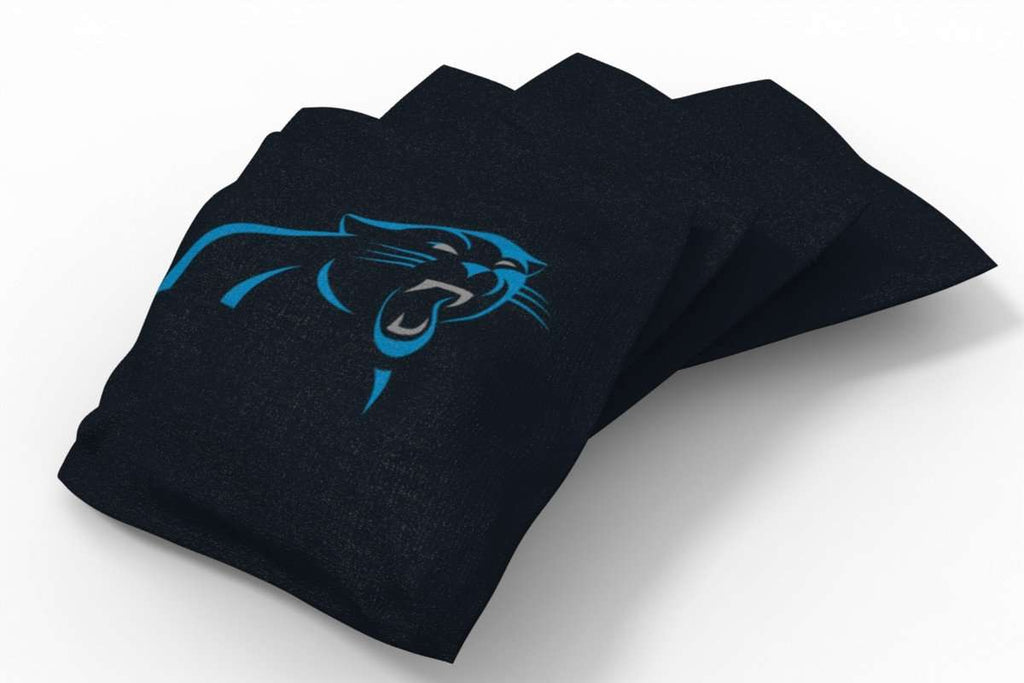 Image: Carolina Panthers Solid Bean Bags-4pk (A) | Proline Tailgating