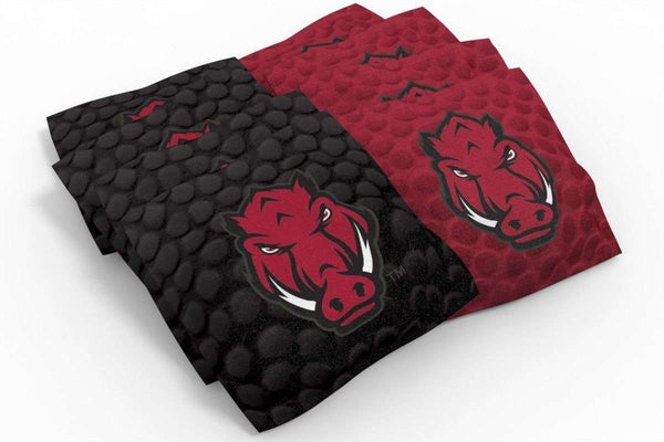Image: Arkansas Razorbacks Cornhole Board Set - Medallion (w/Bluetooth Speakers) | Proline Tailgating