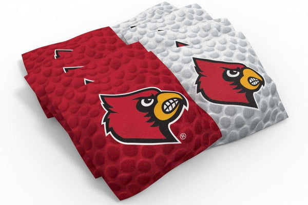 Image: Louisville Cardinals 2x4 Cornhole Board Set - Court | Proline Tailgating