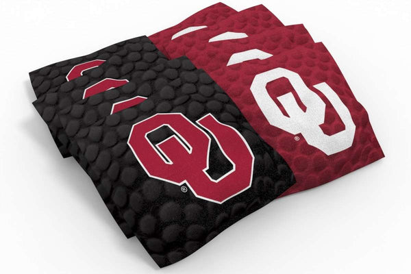 Image: Oklahoma Sooners 2x4 Cornhole Board Set - The Edge | Proline Tailgating