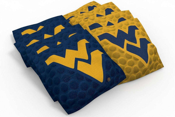 Image: West Virginia Mountaineers 2x4 Cornhole Board Set - Realtree Xtra<sup>®</sup> Camo | Proline Tailgating
