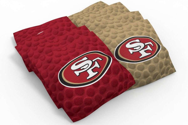 Image: San Francisco 49ers Cornhole Board Set - Vintage (w/Bluetooth Speakers) | Proline Tailgating