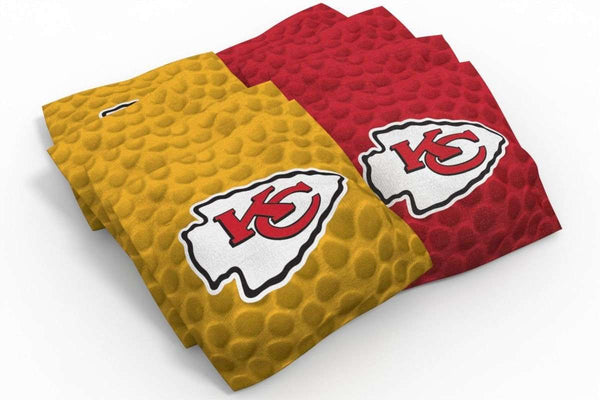 Image: Kansas City Chiefs Cornhole Board Set - Wood (w/Bluetooth Speakers) | Proline Tailgating