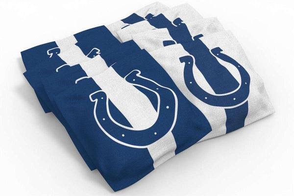 Image: Indianapolis Colts 2x3 Cornhole Board Set - Millennial Stripe | Proline Tailgating