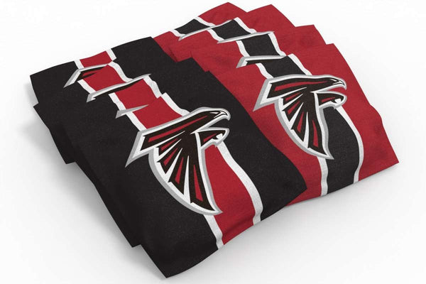 Image: Atlanta Falcons Cornhole Board Set - Arch (w/Bluetooth Speakers) | Proline Tailgating