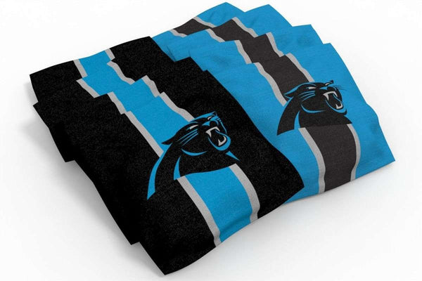 Image: Carolina Panthers 2x4 Cornhole Board Set - Logo | Proline Tailgating