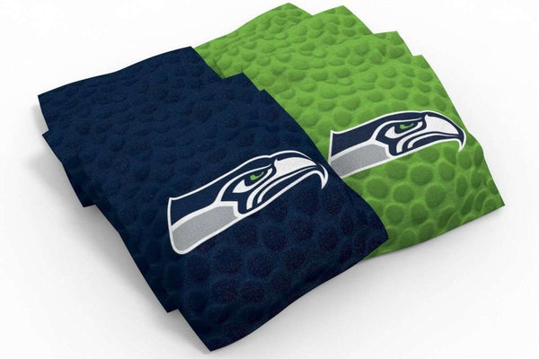 Image: Seattle Seahawks Cornhole Board Set - Vintage (w/Bluetooth Speakers) | Proline Tailgating