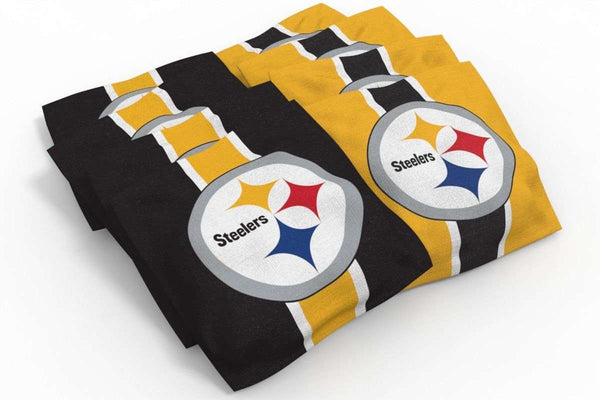 Image: Pittsburgh Steelers 2x4 Cornhole Board Set - Realtree Max-5<sup>®</sup> Camo | Proline Tailgating