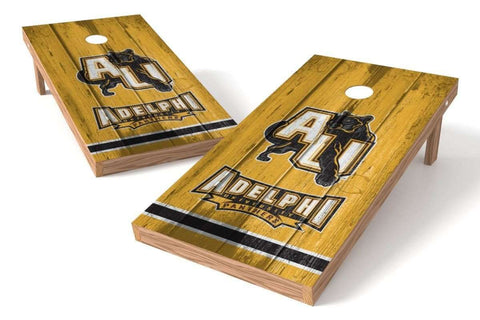 Image: Adelphi Panthers Cornhole Board Set - Vintage (w/Bluetooth Speakers) | Proline Tailgating