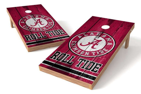 Image: Alabama Crimson Tide 2x4 Cornhole Board Set - Vintage | Proline Tailgating
