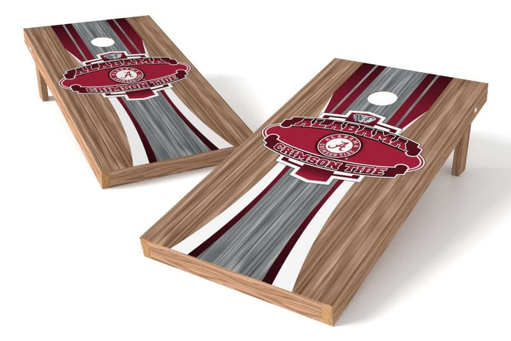 Image: Alabama Crimson Tide Cornhole Board Set - Wood (w/Bluetooth Speakers) | Proline Tailgating