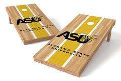 Image: Alabama State Hornets Single Cornhole Board - Court | Proline Tailgating