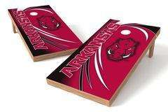 Image: Arkansas Razorbacks Single Cornhole Board - Spiral | Proline Tailgating
