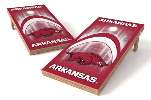 Image: Arkansas Razorbacks Cornhole Board Set - Arch | Proline Tailgating