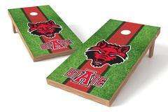 Image: Arkansas State Red Wolves Single Cornhole Board - Field | Proline Tailgating