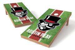 Image: Austin Peay State Governors Single Cornhole Board - Field | Proline Tailgating