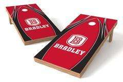Image: Bradley Braves Single Cornhole Board - The Edge | Proline Tailgating