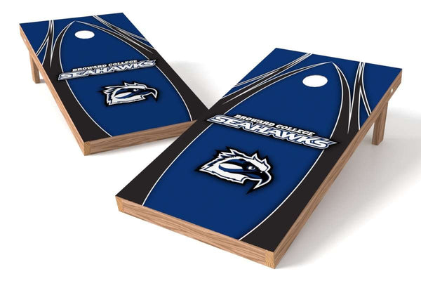 Image: Broward College Seahawks Cornhole Board Set - The Edge | Proline Tailgating