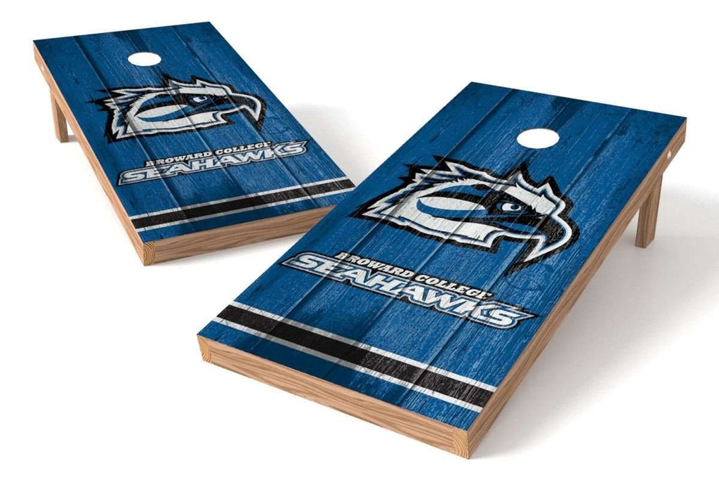 Image: Broward College Seahawks Cornhole Board Set - Vintage | Proline Tailgating
