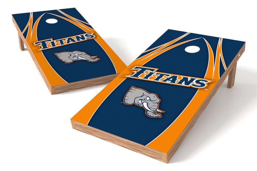 Image: California State Fullerton Titans 2x4 Cornhole Board Set - The Edge | Proline Tailgating