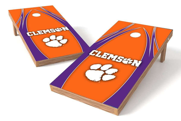 Image: Clemson Tigers Cornhole Board Set - The Edge | Proline Tailgating